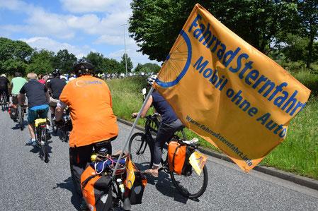Fahrradsternfahrt nach Hamburg